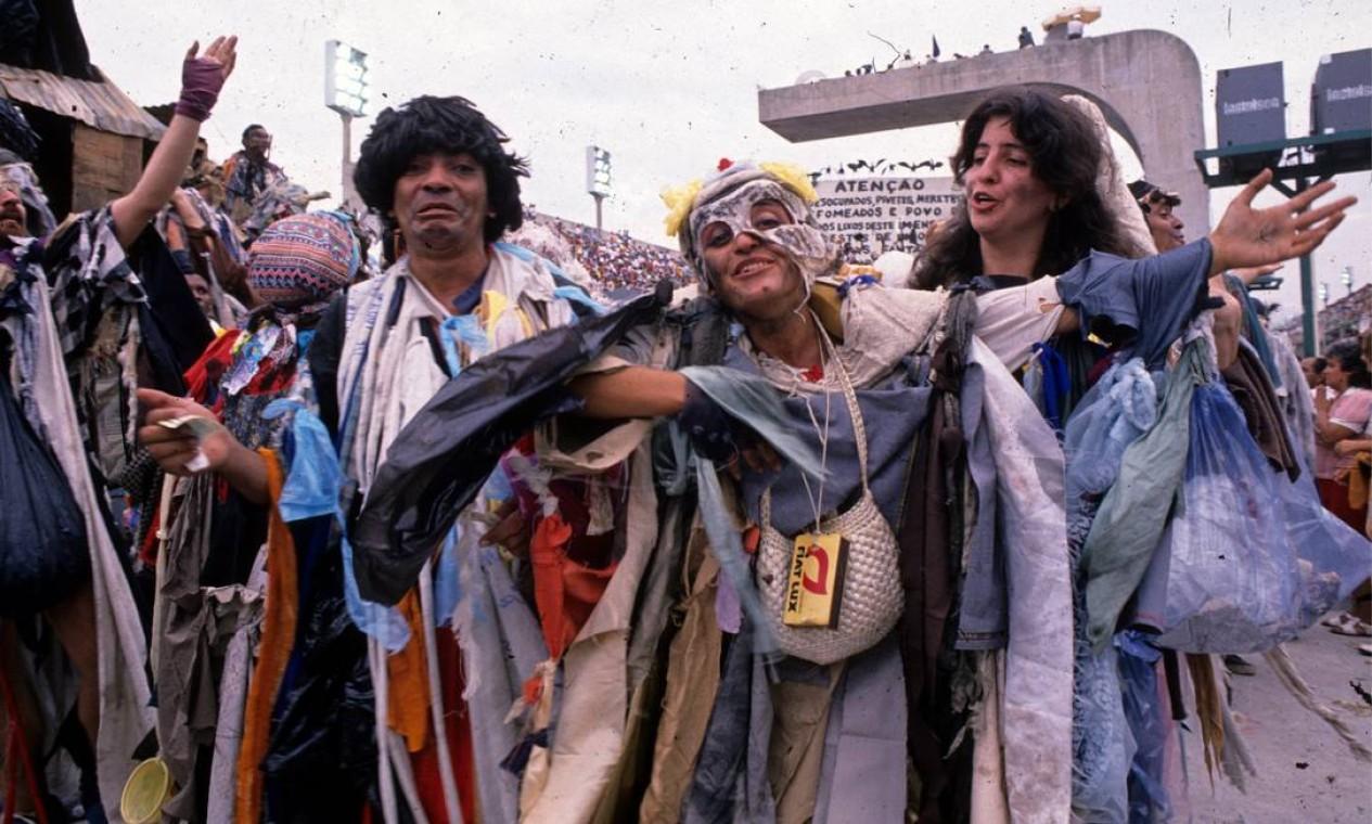 Os mendigos tinham algo de Fellini Foto: Arthur Cavalieri / Agência O Globo