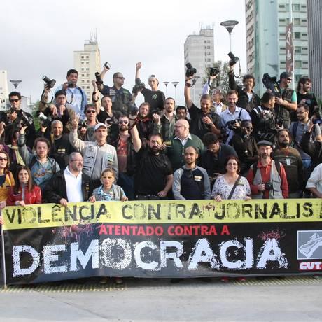 Em 2015, oito jornalistas foram mortos no país Foto: Marcos Alves / Agência O Globo