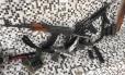 Armas apreendidas em Santa Cruz, na Zona Oeste do Rio
