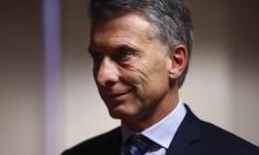 Mauricio Macri, presidente da Argentina Foto: Simon Dawson / Bloomberg