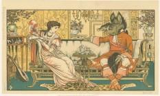 """Uma das muitas versões da fábula """"A bela e a fera"""", lançada em 1896 com ilustrações do artista inglês Walter Crane, um dos mais influentes criadores de livros infantis de sua geração Foto: Reprodução"""