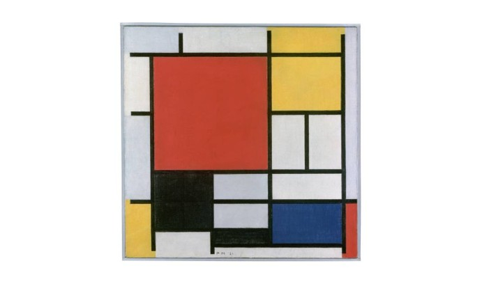 Obra de Mondrian que estará exposta em São Paulo Foto: Divulgação/Gemeentemuseum Den Haag