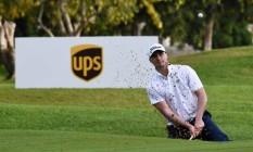 O golfista carioca André Tourinho durante o Latino-Americano, seu último torneio como amador Foto: Enrique Berardi/LAAC
