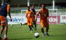 O atacante Fred treinou com o time nas Laranjeiras Foto: Divulgação/Fluminense