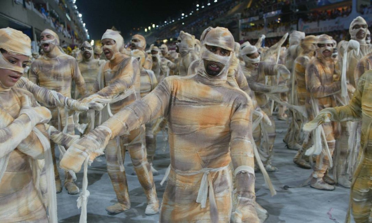 Na ala das múmias, o desejo de ser imortal e um toque de bom humor Foto: Marcelo Theobald / Agência O Globo
