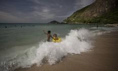 Prainha, a praia mais limpa do Rio de Janeiro. No último ano, foi a única praia da cidade a estar sempre própria para o banho, segundo o Inea. Foto: Márcia Foletto / O Globo