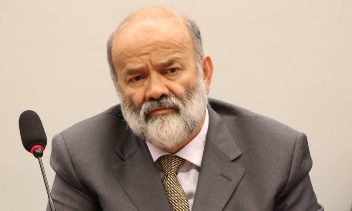 O ex-tesoureiro do PT João Vaccari Neto ficou e silêncio durante audiência com o juiz Sérgio Moro Foto: Ailton de Freitas/09-04-2015 / Agência O Globo