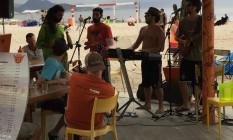 Barulho em show de quiosque incomoda moradores de Copacabana Foto: Foto enviada pelo leitor Carlos Varaldo para o Whats App do GLOBO / Eu-Repórter