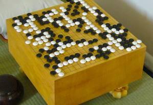 Tabuleiro do jogo oriental go Foto: Reprodução/Wikipedia