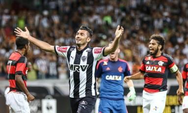O meia Dátolo em partida do Atlético-MG contra o Flamengo Foto: Divulgação - Atlético-MG