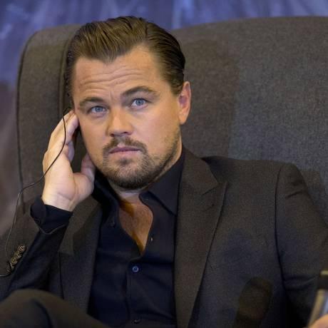 Leonardo DiCaprio durante entrevista coletiva sobre o filme 'O regresso', no México Foto: Rebecca Blackwell / AP