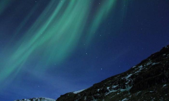 Aurora boreal, em Reykjavík, na Islândia Foto: @nilzalves / Instagram