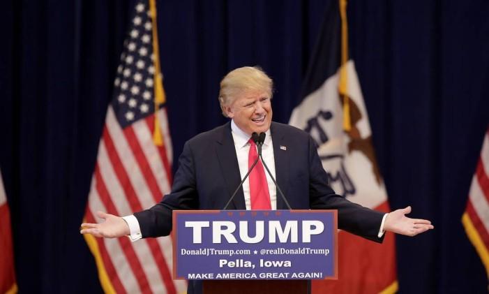 Candidato à presidência americana, Donald Trump faz discurso de campanha Foto: Joshua LOTT / AFP
