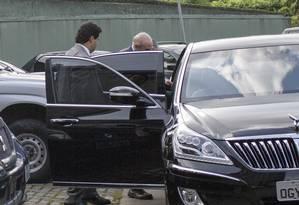 O ex-ministro da fazenda Guido Mantega prestou depoimento na sede da Policia Federal em Sao Paulo Foto: Edilson Dantas / Edilson Dantas / Agência O Globo