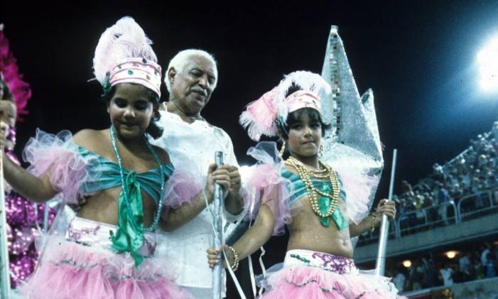 Com Caymmi, a escola foi campeã em 1986 Foto: Luiz Pinto / O Globo