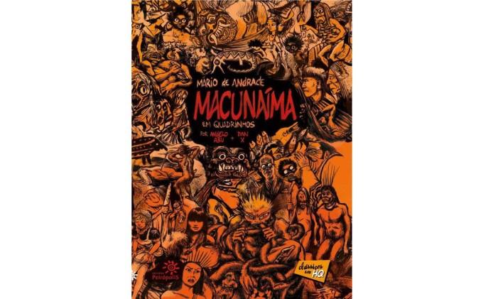 """Capa de """"Macunaíma em quadrinhos"""" Foto: Reprodução"""