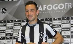 Damian Lizio na apresentação ao Botafogo Foto: Vítor Silva/SSPress/Botafogo