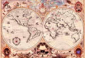 Mapa divulgado por J. K. Rowlings mostra localização de cada escola de magia Foto: Reprodução