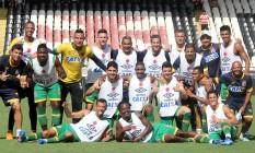 Jogadores do Vasco posam após o treino de sábado, em São Januário Foto: Divulgação