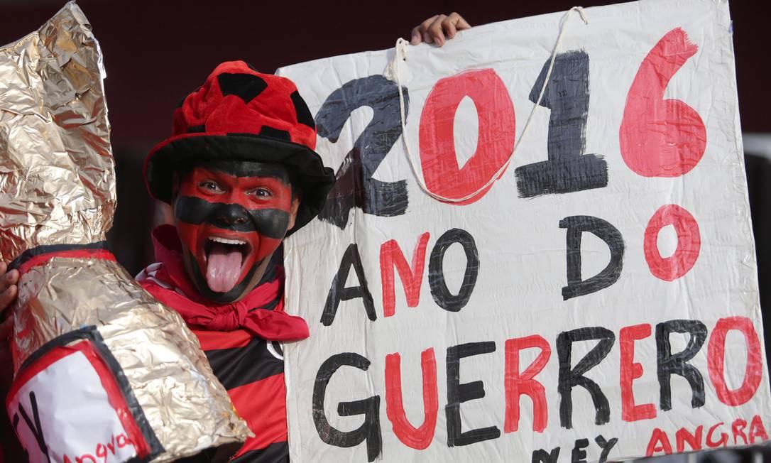 Torcedor do Flamengo e fã de Guerrero Márcio Alves/ Agência O Globo