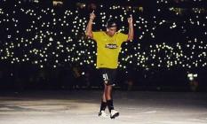 Ronaldinho é ovacionado na entrada em campo Foto: Divulgação - Barcelona