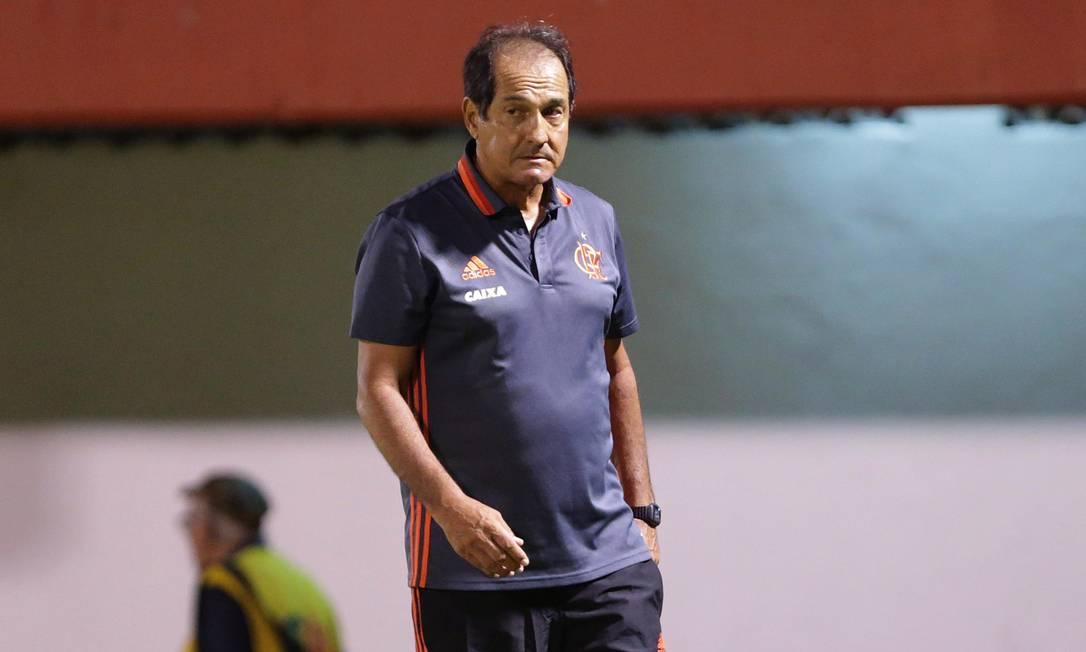 O técnico do Flamengo, Muricy Ramalho, na estreia do Carioca Márcio Alves / Agência O Globo