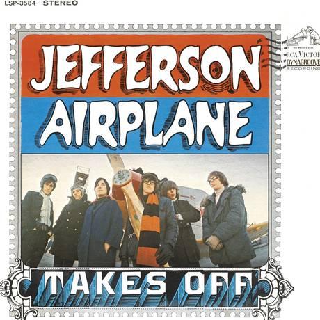 Signe Toly Anderson junto aos outros integrantes do Jefferson Airplane na capa do primeiro disco Foto: Reprodução
