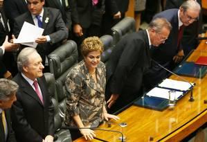 A presidente Dilma no plenário da Câmara Foto: Ailton de Freitas / Agência O Globo