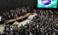 Sessão solene de reabertura da sessão legislativa, no plenário da Câmara