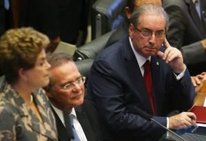 Sessão solene de reabertura da sessão legislativa, no plenário da Câmara Foto: Ailton de Freitas / Agência O Globo