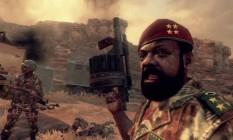 """Jonas Savimbi, líder da UNITA, aparece em """"Call of Duty: Black Ops II"""" ajudando o personagem principal Alex Mason Foto: Reprodução"""
