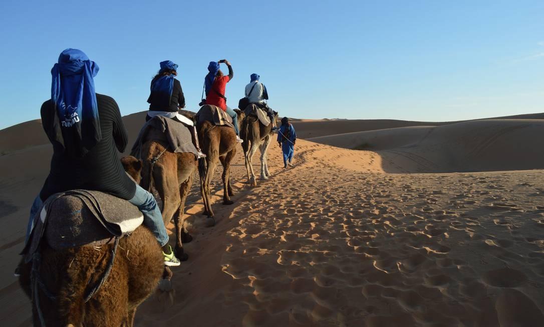 O caminho até o Saara, cruzando o interior do país e o Atlas, é conhecido como Caminho dos Mil Kasbahs, em referência às antigas fortalezas berberes Foto: Silvia Amorim / Agência O Globo
