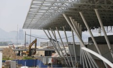 A reforma da Marina da Glória: região receberá provas de vela durante as Olimpíadas deste ano Foto: Pablo Jacob