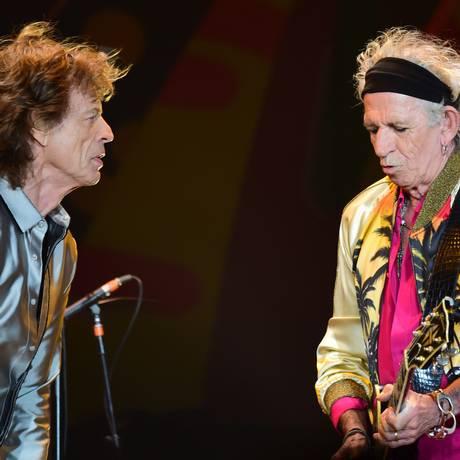 Mick Jagger e Keith Richards no Chile Foto: MARTIN BERNETTI / AFP