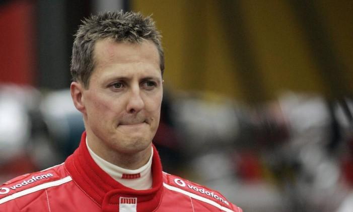 Michael Schumacher em Spa-Francorchamps, na Bélgica, em 2005, quando era ainda piloto da Ferrari Foto: YVES LOGGHE / AFP