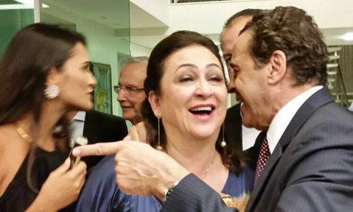 Kátia Abreu com o ministro do Turismo, Henrique Eduardo Alves