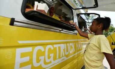 O truck social em evento com a ONG Sonhar Acordado Foto: Bruno de Lima / Divulgação