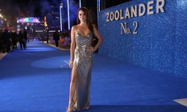 """Londres parou para ver Penélope Cruz desfilar no tapete azul da première de ''Zoolander"""", que aconteceu na noite de quinta-feira Foto: Joel Ryan / Joel Ryan/Invision/AP"""
