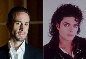 Joseph Fiennes e Michael Jackson Foto: Arquivo