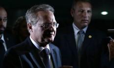 Renan Calheiros, presidente do Senado Foto: Jorge William / Agência O Globo / 3-2-2016