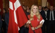 Wozniacki vai carregar a bandeira dinamarquesa na abertura dos Jogos Foto: Lars Møller / Lars Møller