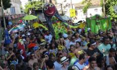 Bloco Carmelitas desfila em Santa Teresa e abre o carnaval de rua do Rio Foto: Marcelo Carnaval / Agência O Globo