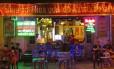 Bar no Old Quarter de Hanói, no Vietnã