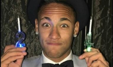Neymar agradece mensagens pelo aniversário Foto: Reprodução