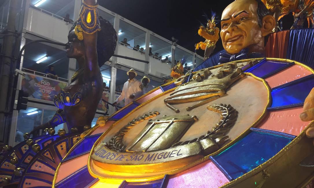 Detalhe do último carro da Império da Tijuca; escola fechou o primeiro dia de desfiles Guilherme Ramalho