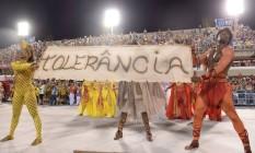 Comissão de Frente da Viradouro trouxe mensagem de tolerância Foto: Agência O Globo