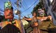 Este ano, o bloco trouxe ritmos e elementos africanos para o desfile