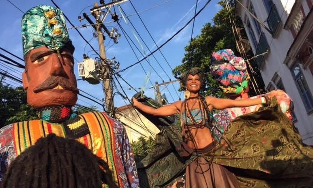 Este ano, o bloco trouxe ritmos e elementos africanos para o desfile Ana Branco / O Globo