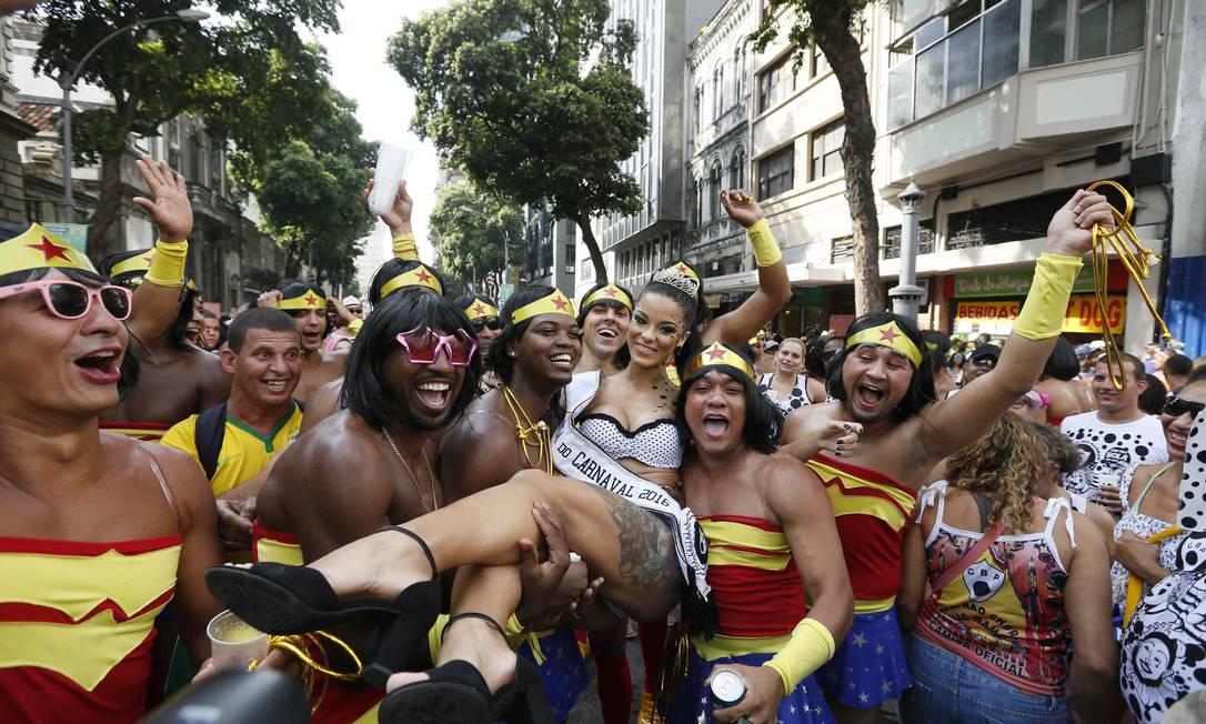RI Rio de Janeiro (RJ) 06/02/2016 Foliões no Cordão da Bola Preta. Foto Pablo Jacob / Agencia O GLobo Pablo Jacob / Agência O Globo