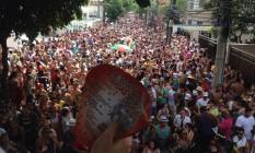 Bloco Barbas desfila por Botafogo e preste homenagem a Nelsinho Rodrigues, fundador do grupo Foto: Amanda Prado / O Globo